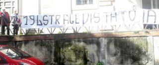 """Roma, blitz Forza Nuova alla Casa delle donne. Affisso striscione anti-aborto: """"194 strage di Stato"""""""