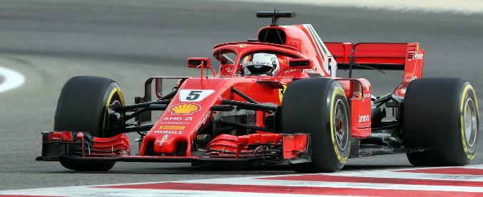 Formula 1, Gp Bahrain: prima fila Ferrari. Vettel in pole davanti a Raikkonen