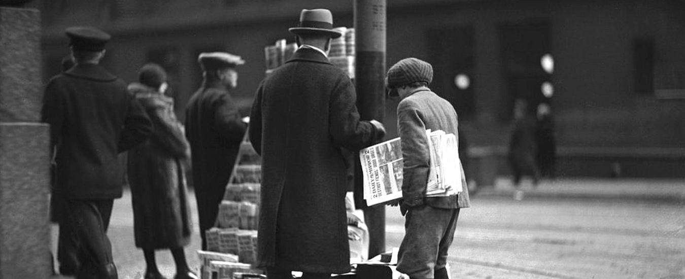 Ho sognato che la fotografia salvava i giornali