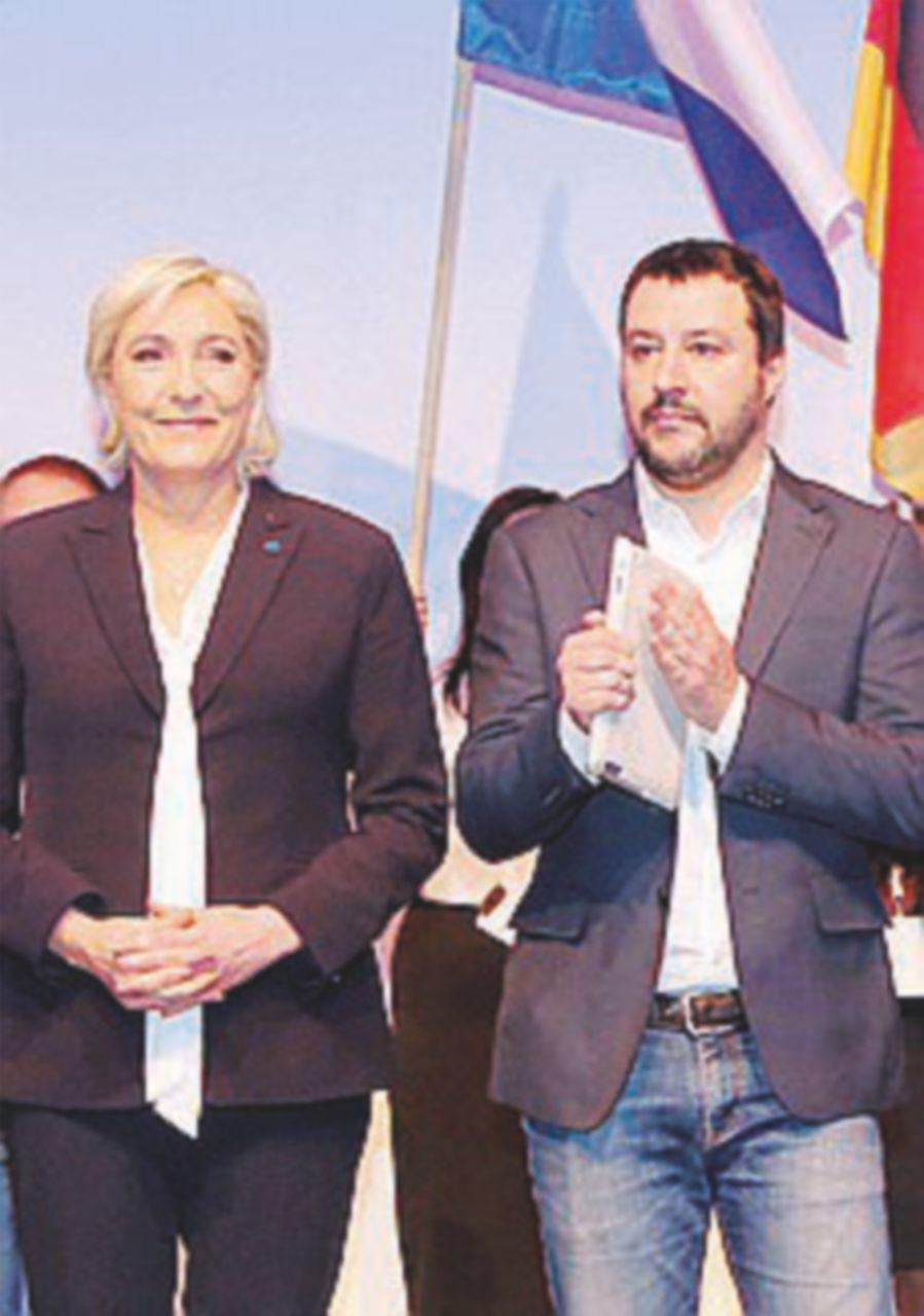 Il 1° maggio Salvini se ne va a Nizza con Marine Le Pen