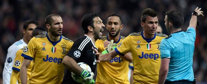 """Real-Juve, Buffon: """"Arbitro ha immondizia al posto del cuore"""". Fuori controllo Benatia: """"Il rigore è stato uno stupro"""""""