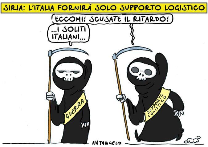 Guerra e Siria, la posizione italiana