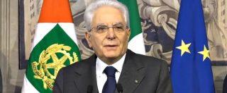 """Consultazioni, Mattarella: """"Serve con urgenza governo nel pieno delle sue funzioni"""""""