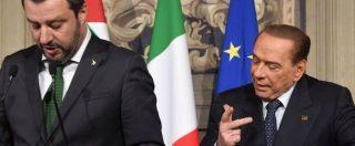 """Berlusconi scassa il centrodestra: """"Con Lega-Meloni fuga imprese e crac banche"""". Salvini: """"Lui stesso livello di Di Battista"""""""