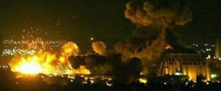 Siria, iniziato nella notte l'attacco coordinato di Usa, Francia e Regno Unito. Le immagini delle bombe