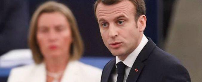 """Macron all'Ue: """"Egoismi nazionali e fascino illiberale: è guerra civile europea. Siria? Difeso l'onore internazionale"""""""