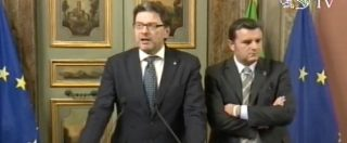 """Governo, Giorgetti (Lega): """"Pronti a governare anche dalla prossima settimana se M5s rinuncia ai veti"""""""