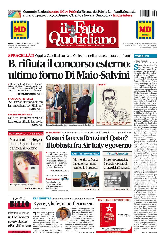 B Rifiuta Il Concorso Esterno Ultimo Forno Di Maio Salvini Il