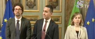 """Governo, Di Maio: """"Disponibili a parlare di programmi ma ci sono dei limiti: al tavolo solo con Salvini"""""""