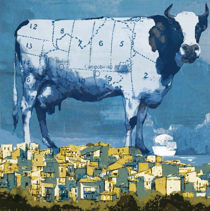 Campobasso – Tempo di transumanza: buoi e politici in marcia
