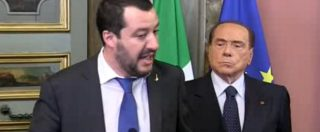 Consultazioni, niente show di Berlusconi. Resta defilato, silenzioso e composto alle spalle di Salvini