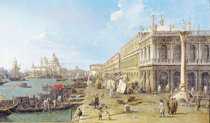 Luce dal cielo, ossessione del Canaletto