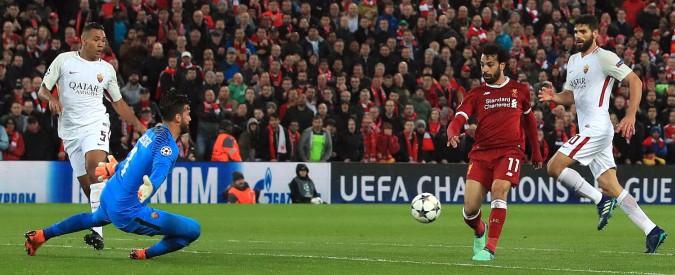 Liverpool-Roma risultato: ad Anfield finisce 5-2 per i Reds. Doppietta di Salah. I giallorossi si svegliano solo nel finale