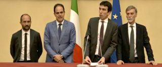 """Governo, l'apertura di Martina dopo l'incontro con Fico: """"L'asse di riferimento sta attorno al programma del Pd"""""""