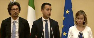 """Governo, Di Maio: """"Noi alternativi a Pd e Lega, ma nessuno può fare un esecutivo da solo"""""""