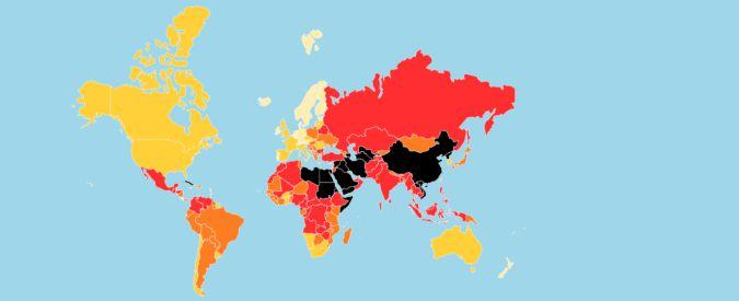"""Libertà di stampa, l'Italia sale al 46esimo posto. Rsf: """"Ma crescono minacce contro giornalisti"""""""