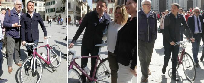 Renzi e la bici Colnago: dono istituzionale che vale più di 300 euro, ma non risulta riscattato. È così? Suo staff prende tempo