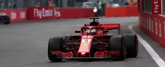 Formula 1, qualifiche del Gp di Baku: la Ferrari di Sebastian Vettel partirà in pole. Hamilton secondo, poi Bottas
