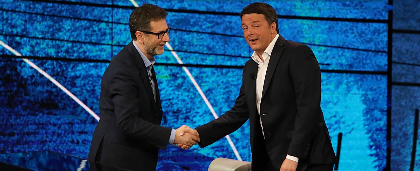 Renzi a Che tempo che fa ha aperto a un governo tra Pd, M5s e Centrodestra