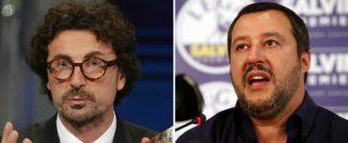 """Salvini ci riprova: """"Fare un governo con centrodestra e M5s fino a dicembre"""". Toninelli: """"Ha sprecato la sua occasione"""""""