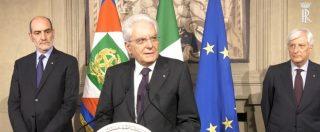 """Consultazioni, Mattarella: """"Governo neutrale e di servizio e stop a dicembre. Con voto in autunno c'è rischio aumento Iva"""""""