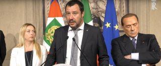 """Consultazioni, Salvini: """"Disponibile a fare un governo con il centrodestra unito e metterci al lavoro"""" - 10/12"""