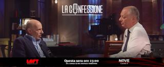 """La Confessione, Sallusti ospite di Peter Gomez: """"Renzi mi disse: 'Vengo sotto casa tua e ti spacco le gambe bastardo'"""""""
