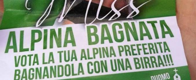 'Vota Miss Alpina bagnata tirando birra'. Polemiche dopo l'evento, gli organizzatori dell'Adunata: 'Idea di un imbecille'