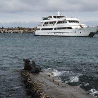 Lo yacht ancorato vicino all'isola South Plaza