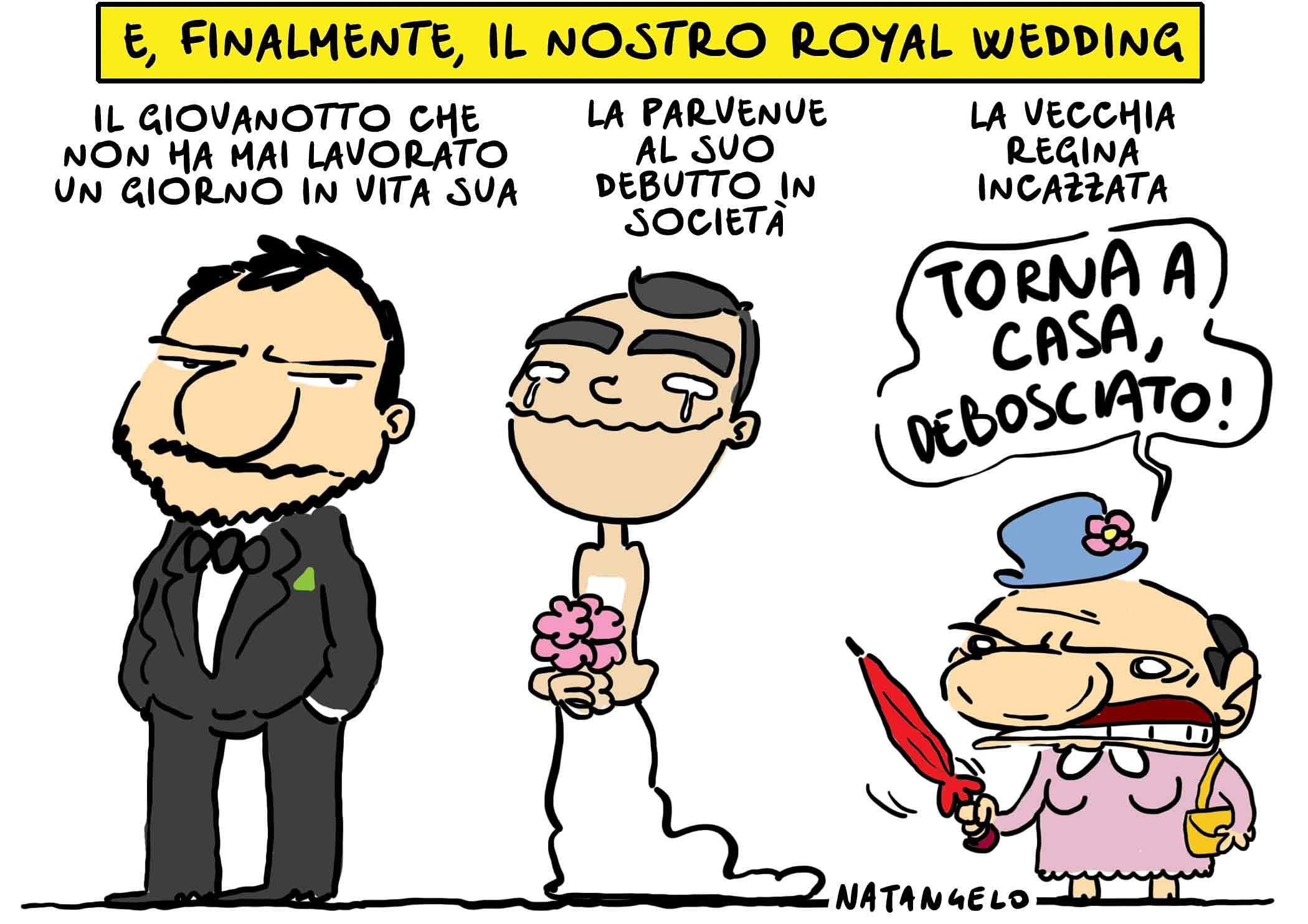 Royal wedding all'italiana