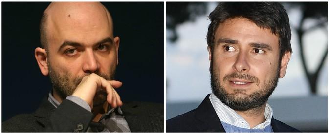 """Saviano a Di Battista: """"Fai parte di una gloriosa categoria patria: i paraculo"""". La replica: """"Intellettuale falce e cachemire"""""""