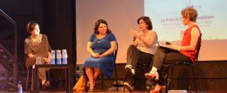 """Festa del Fatto Quotidiano, Michela Murgia con Bianca Berlinguer e Silvia Truzzi: """"La stampa è femmina?"""". Rivedi l'evento"""