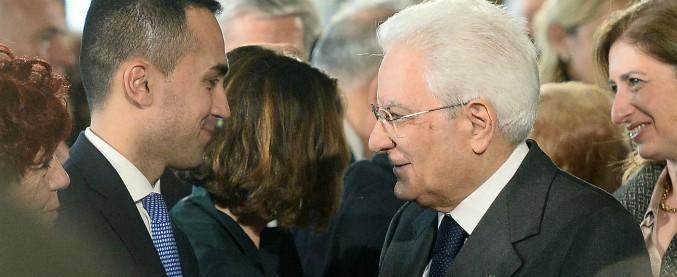 """Governo, Di Maio: """"Occorre impeachment Mattarella per evitar"""