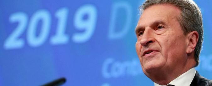 Gunther Oettinger, il commissario Ue con la passione per gli aerei dei lobbisti russi e amicizie nella 'ndrangheta