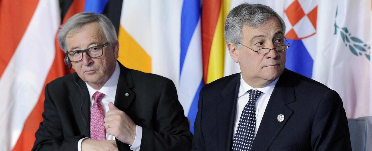 """Governo, Juncker: """"Gli italiani si occupino di regioni povere. Più lavoro e meno corruzione"""". Tajani: """"Inaccettabile"""""""