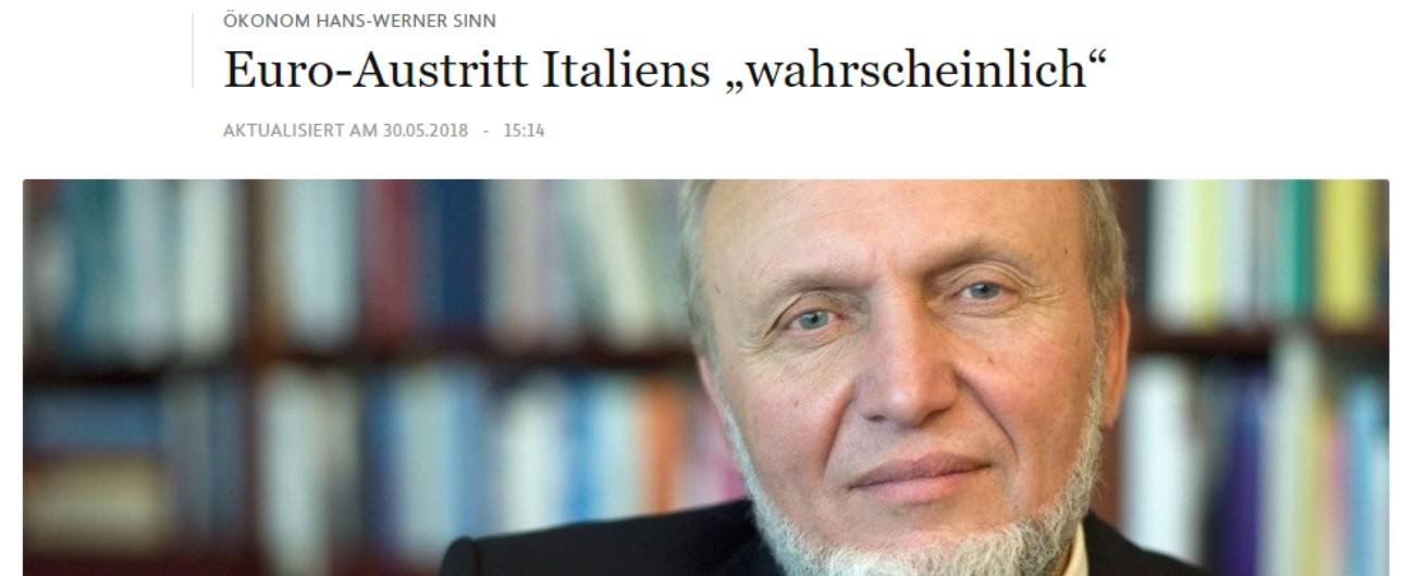"""Governo, la stampa tedesca: """"Probabile uscita dell'Italia dall'euro"""". Ex ministro Fischer: """"Crisi peggiore di quella greca"""""""