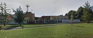 Lega, dal muro di via Bellerio a Milano spariscono le scritte 'Lega Nord Padania' e 'Basta euro'