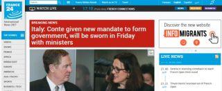Governo, la nascita dell'esecutivo M5s-Lega sui siti stranieri