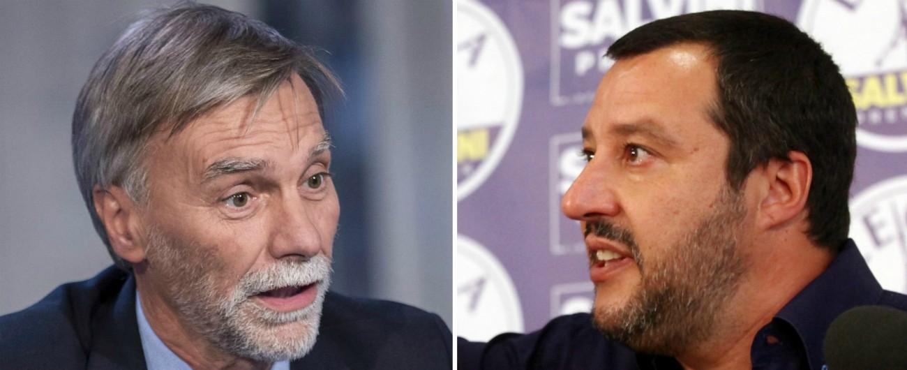 """Lega, Delrio: """"Vicina alla destra europea"""". Salvini: """"È meglio tacere e sembrare stupidi, che parlare e togliere il dubbio"""""""