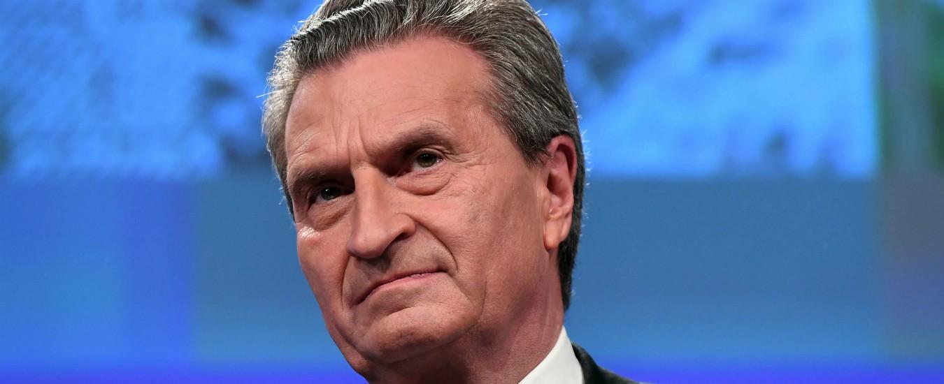 Oettinger, c'è voluto un commissario tedesco per farci sentire italiani