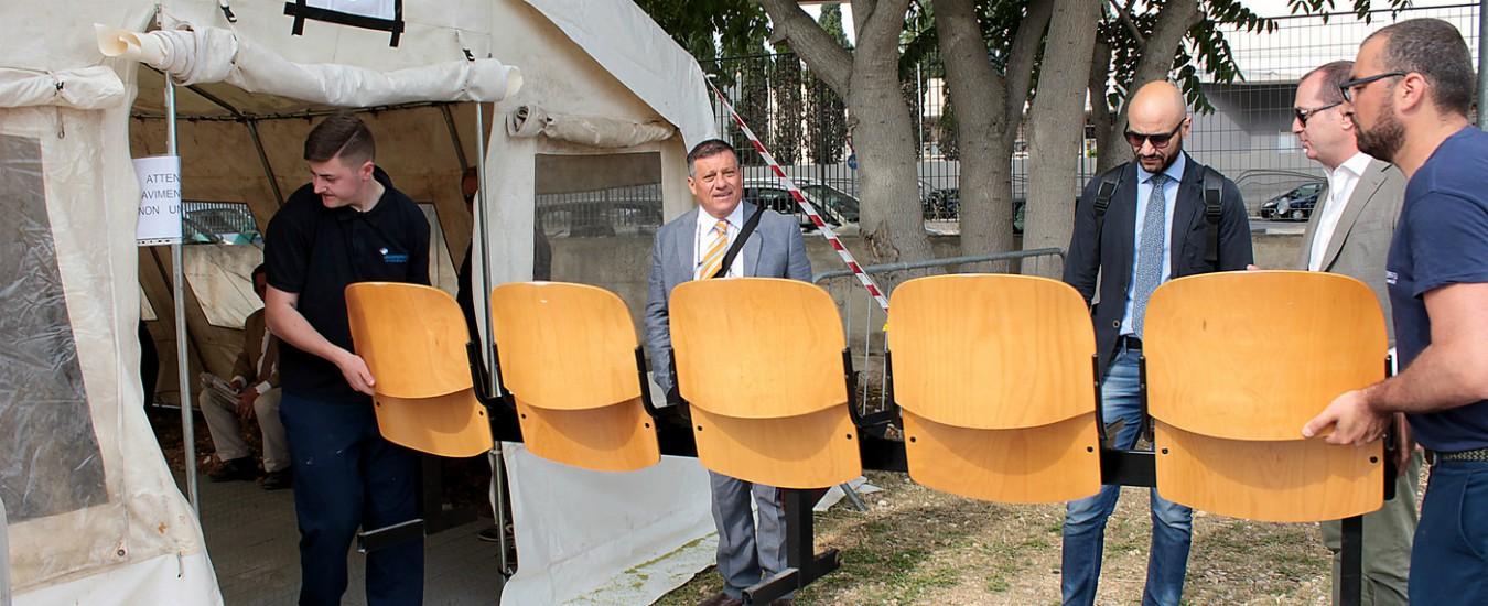 Il tribunale di Bari in tenda, in nome del popolo italiano