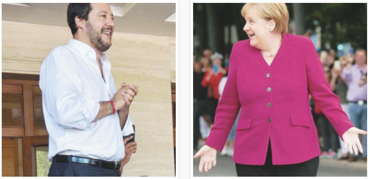 Sul Fatto del 4 giugno: La Merkel prova a offrire una sponda ai gialloverdi, ma tace sui ricollocamenti