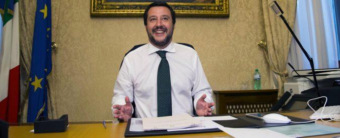 Salvini tenta di convincere gli italiani che la loro sciagura sono immigrati e rom