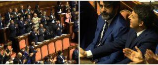 """Governo, Conte in Senato: """"Fuori mafia dallo Stato"""". Cori in aula di Lega e M5s, Renzi protesta: interviene Casellati"""