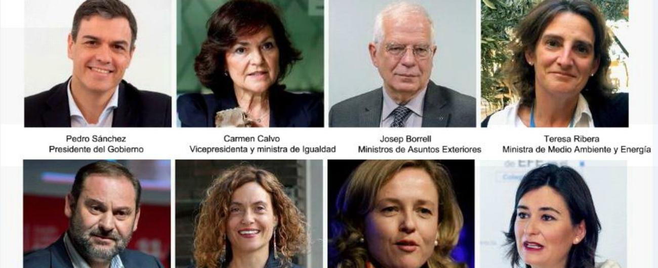 """Spagna, pronto il """"governo rosa"""" di Pedro Sanchez: nel nuovo esecutivo 11 donne e 6 uomini. Un astronauta alla Ricerca"""