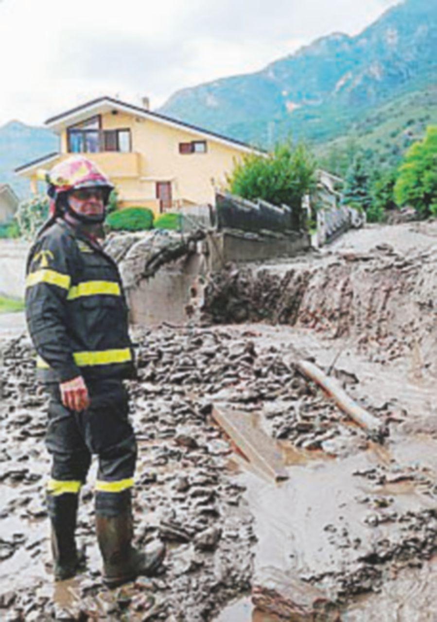 Bussoleno, frana la montagna: 200 evacuati dal paese