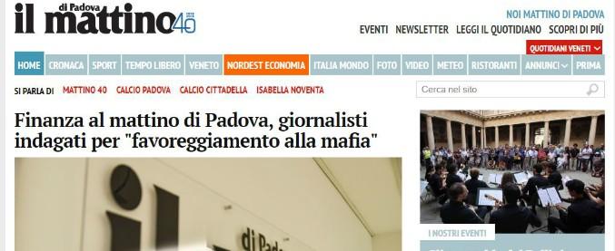 Il Mattino di Padova, perquisizioni nella redazione del quotidiano: giornalisti indagati per favoreggiamento