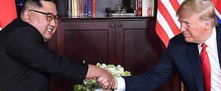 """Donald Trump e Kim Jong-un, storico incontro a Singapore per un accordo sul nucleare. """"Il passato è alle spalle"""""""