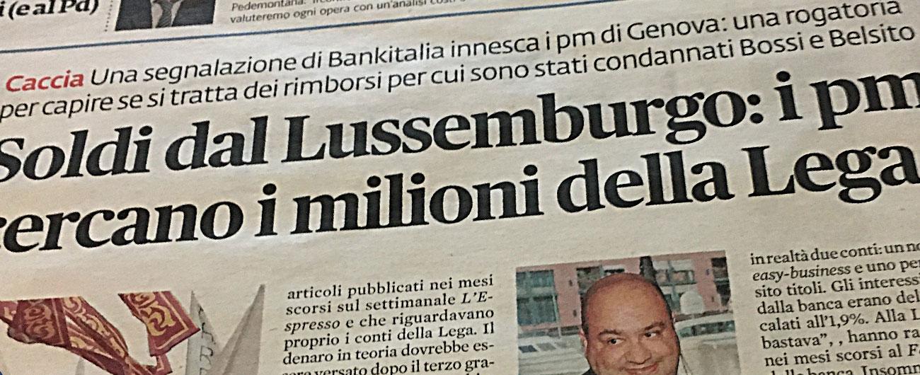Lega e Sparkasse, Sansa del Fatto e altri due cronisti identificati e trattenuti dalla Finanza per rispondere dei loro articoli