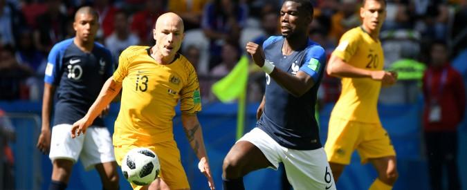Mondiali Russia 2018, Francia-Australia 2-1: l'esordio dei Blues è un flop, ma Var e Pogba regalano i tre punti